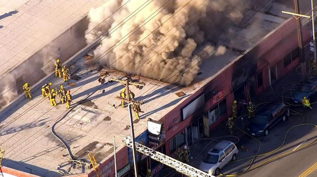 """Woman in """"Grave"""" Condition After Fire at East Hollywood Business"""