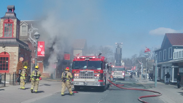 Fire damages historic building in Unionville
