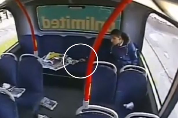 Watch: Teenager sets fire to top deck of bus with cigarette lighter and newspaper