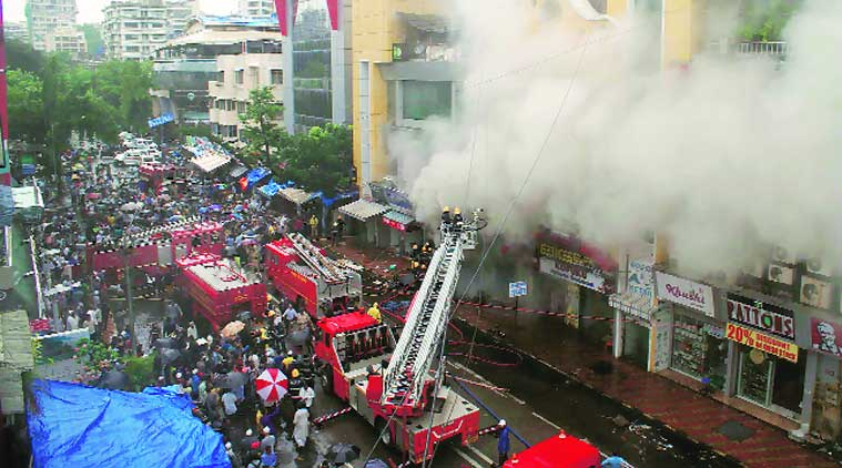 Mumbai: Shops gutted in fire at Bandra complex, no casualty