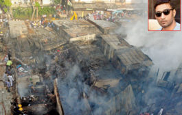 Mumbai: Fire breaks out a garment godown in Dongri