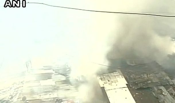 Mumbai: Level III fire breaks out in cloth godown in Dongri, no injuries reported