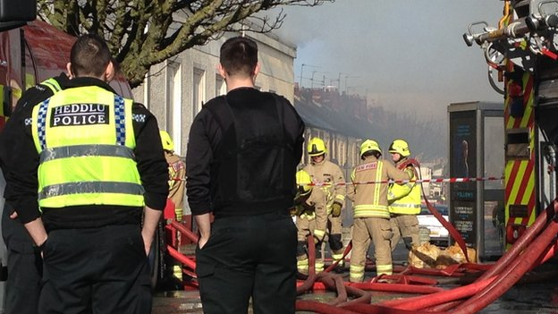 Evacuations as crews tackle fire in Cardiff