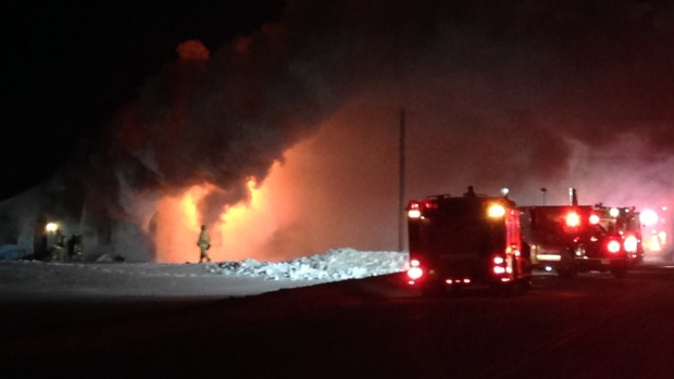 House fire in Tiny Township