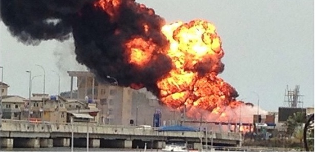 BREAKING NEWS! ASCON Gas Station In Lekki Phase 1 Currently On Fire