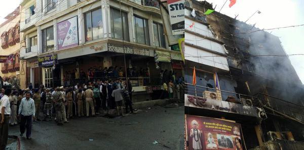 Seven killed in Maharashtra hotel fire